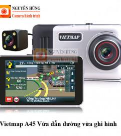 Vietmap A45 camera hành trình trước sau kiêm dẫn đường