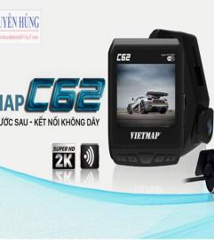 Camera Hành Trình Vietmap C62 – Cảnh Báo Giao Thông , Ghi Hình Trước , Sau, 2K, Wifi